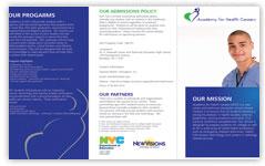 new visions brochure design